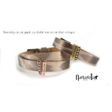 Le Bracelet Cuir Simple Tour