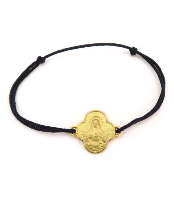 """Bracelet  """"La Vierge au Sacré Cœur"""" or 18 carats"""