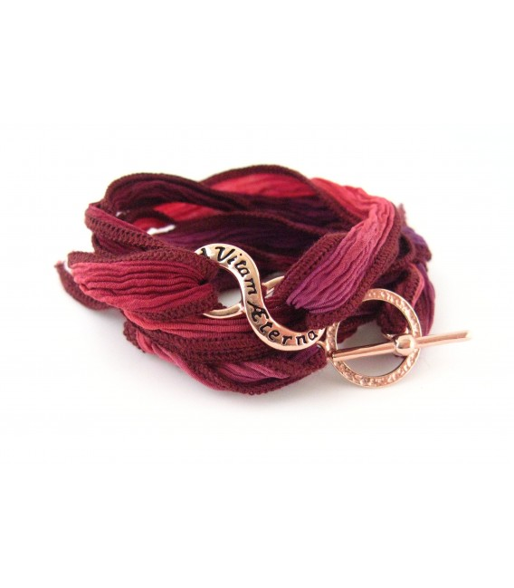 Le Bracelet en soie Ad Vitam Aeternam