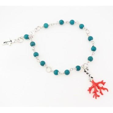 Le Bracelet Boules en Turquoise