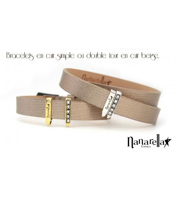 Le Bracelet Cuir Double Tour