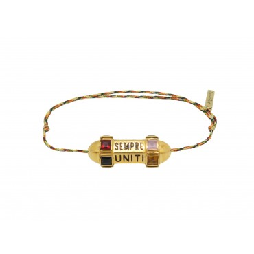 "Bracelet ou collier Talisman ""Sempre Uniti Bella Vita"""